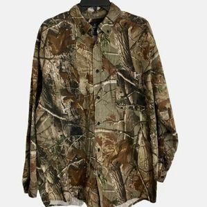 Red Head Realtree 2XL Hunting Camo Casual Shirt